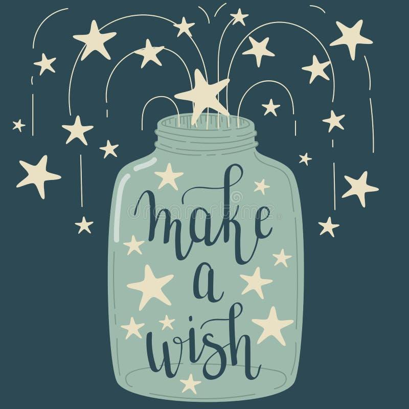 `做一愿望`递字法 皇族释放例证