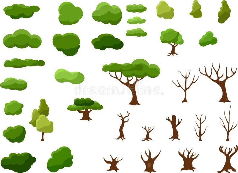 做与各种各样的元素的一棵树 皇族释放例证