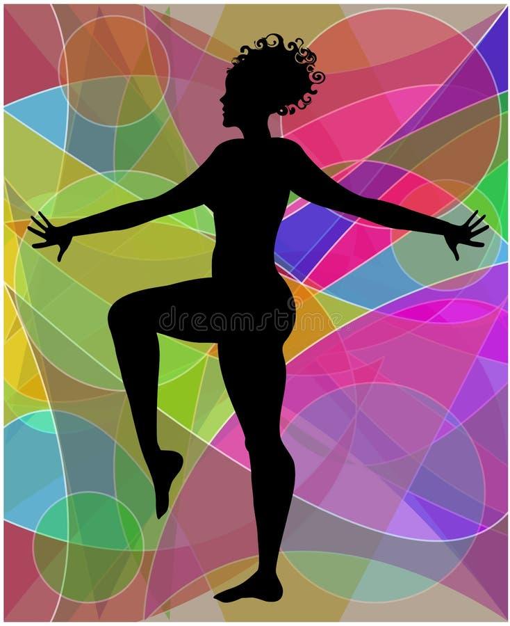 做体操的妇女 皇族释放例证