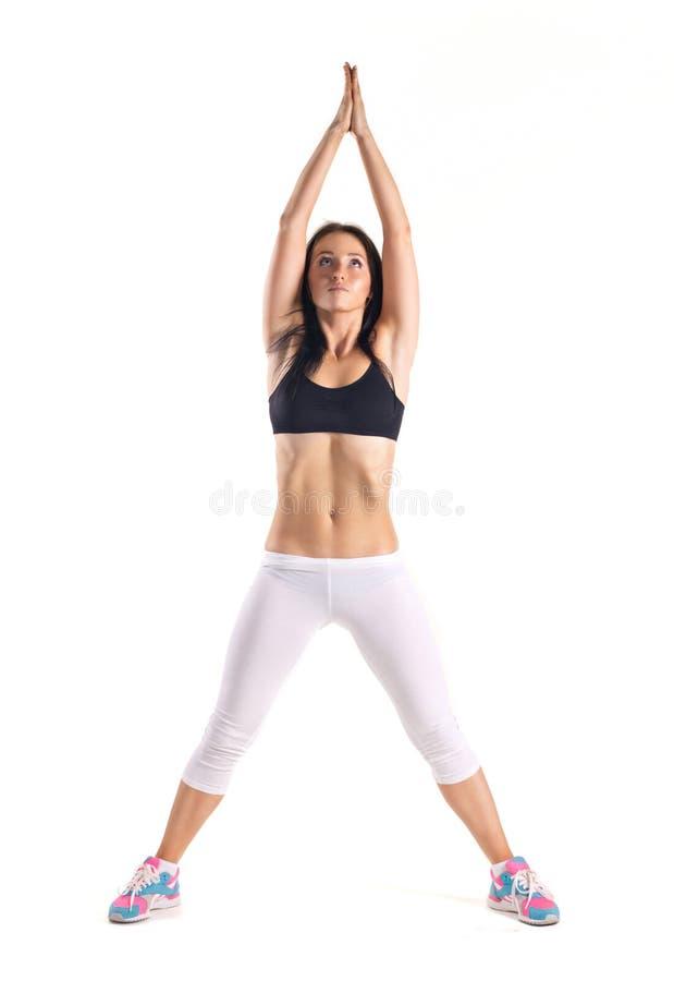 做健身锻炼的少妇 图库摄影