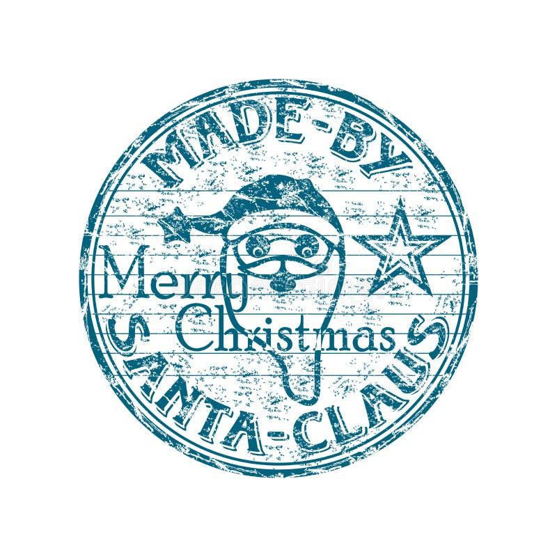做圣诞老人标记 库存例证