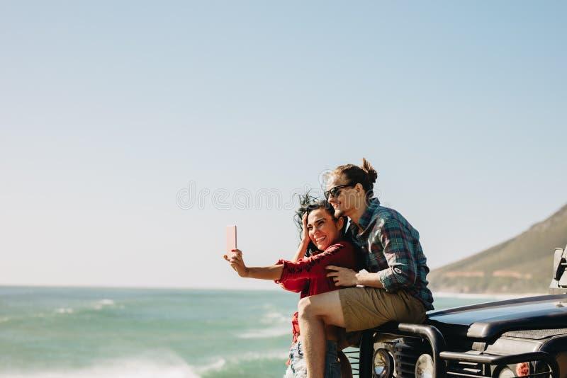 做在他们的旅行期间的记忆 免版税库存照片