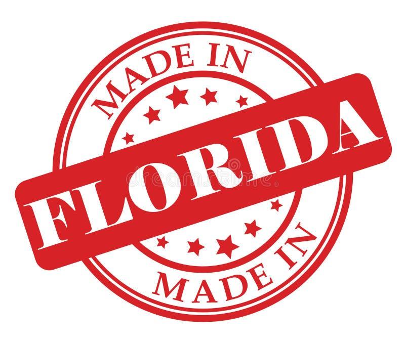 做在佛罗里达邮票 库存例证