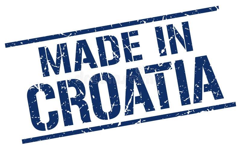 做在克罗地亚邮票 向量例证