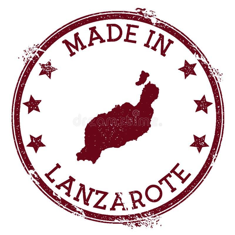 做在兰萨罗特岛邮票 向量例证