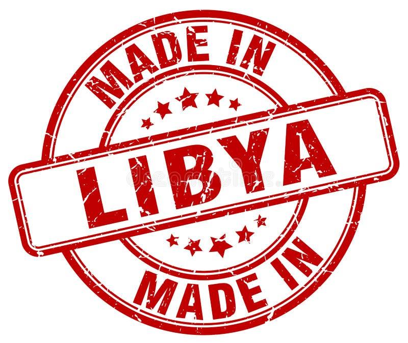 做在利比亚邮票 皇族释放例证