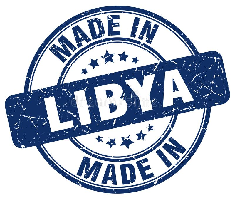 做在利比亚邮票 库存例证
