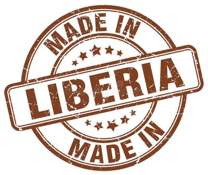做在利比里亚邮票 库存例证
