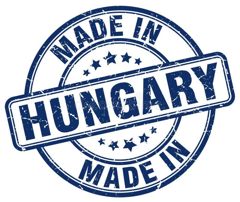 做在匈牙利邮票 向量例证