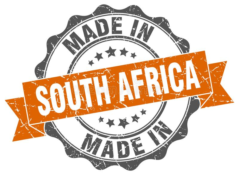 做在南非封印 库存例证