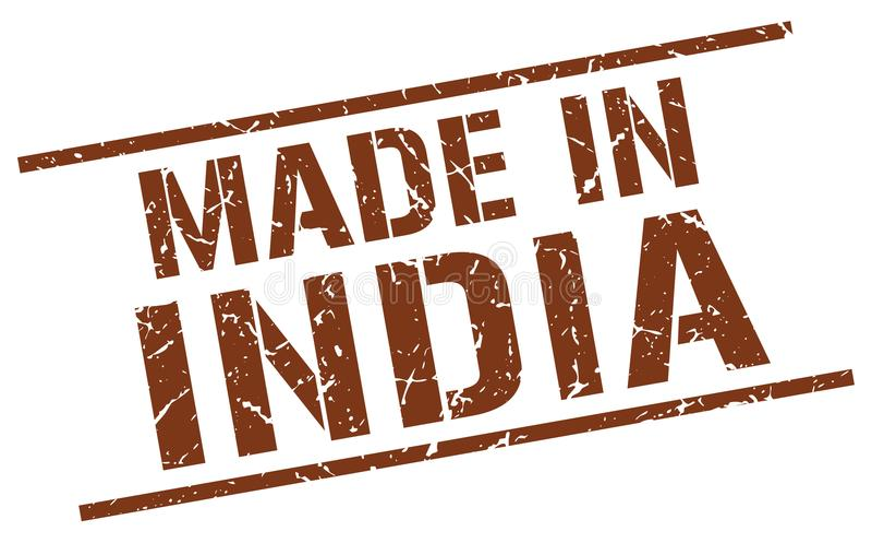 做在印度邮票 向量例证