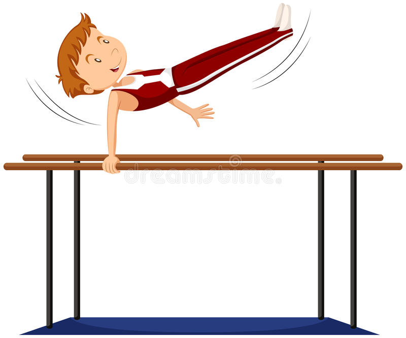 做在例证的人插画滑板句子.双杠包括有体育运动描写体操的向量图片