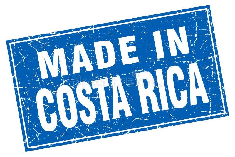 做在哥斯达黎加邮票 向量例证