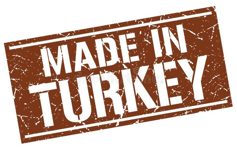 做在土耳其邮票 皇族释放例证