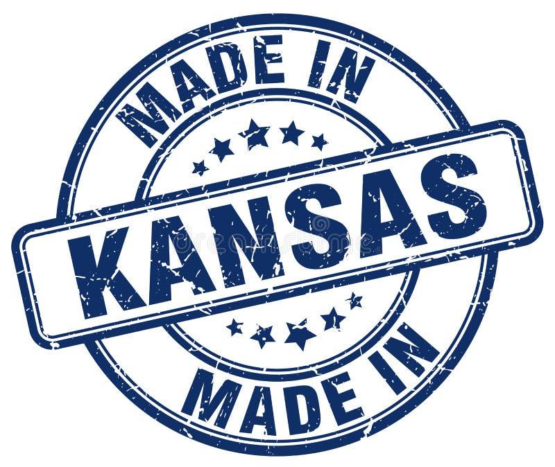 做在堪萨斯邮票 向量例证