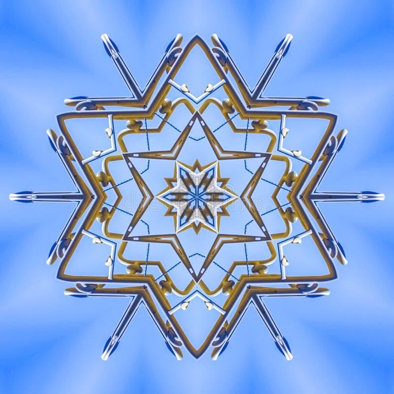 做在天空的金属射线一个特征模式 库存例证