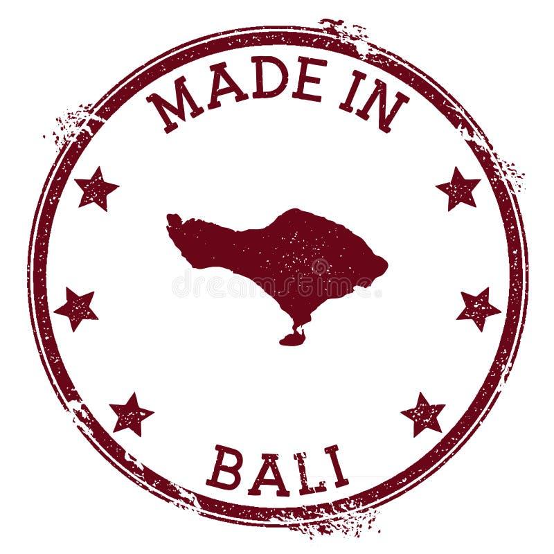 做在巴厘岛邮票 皇族释放例证