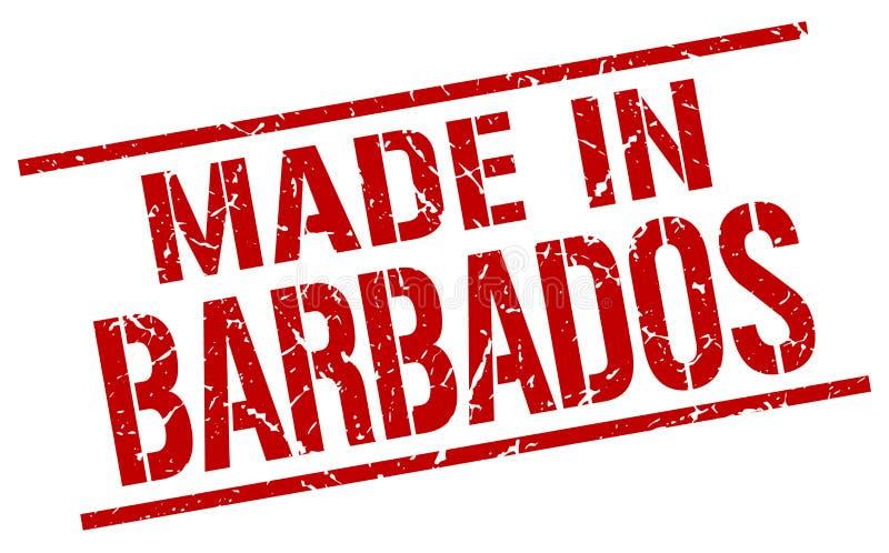 做在巴巴多斯邮票 向量例证