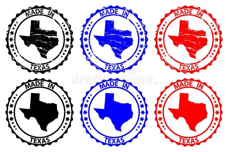 做在得克萨斯不加考虑表赞同的人 向量例证