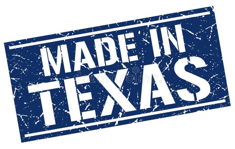 做在得克萨斯邮票 皇族释放例证