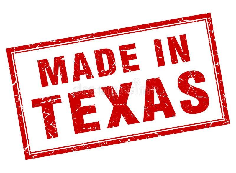 做在得克萨斯邮票 向量例证