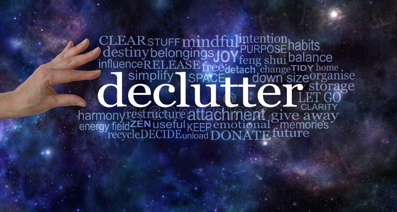 做在您的生活和declutter的空间 库存图片