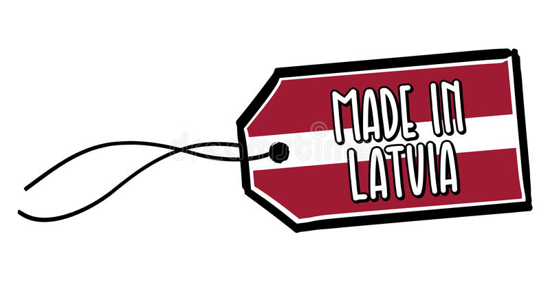 做在拉脱维亚标签 皇族释放例证