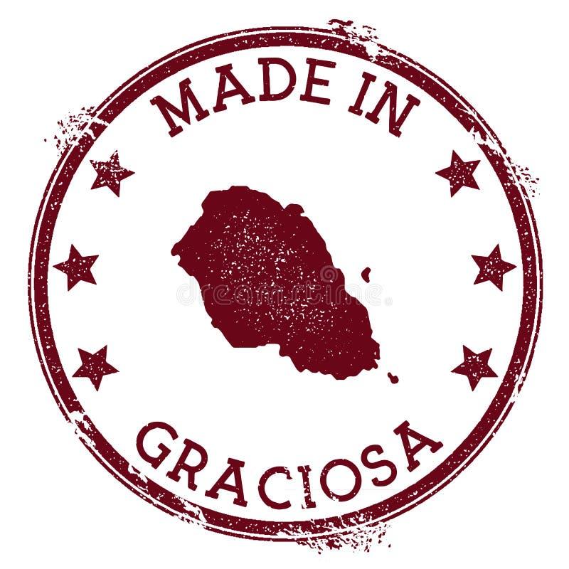 做在格拉西奥萨岛邮票 皇族释放例证