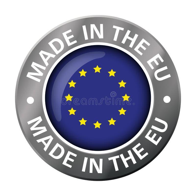 做在欧盟旗子金属象 皇族释放例证