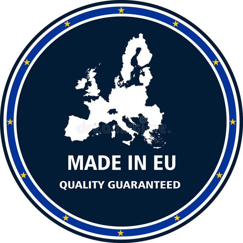 做在欧盟质量邮票 也corel凹道例证向量 皇族释放例证