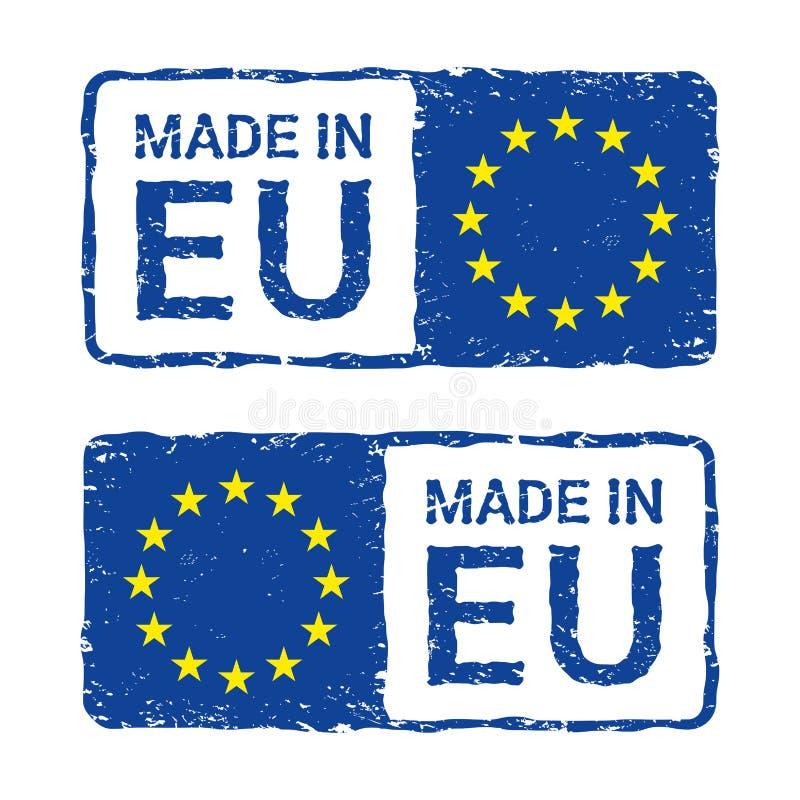 做在欧盟,欧盟导航邮票 向量例证