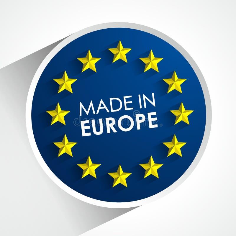 做在欧洲徽章 库存例证