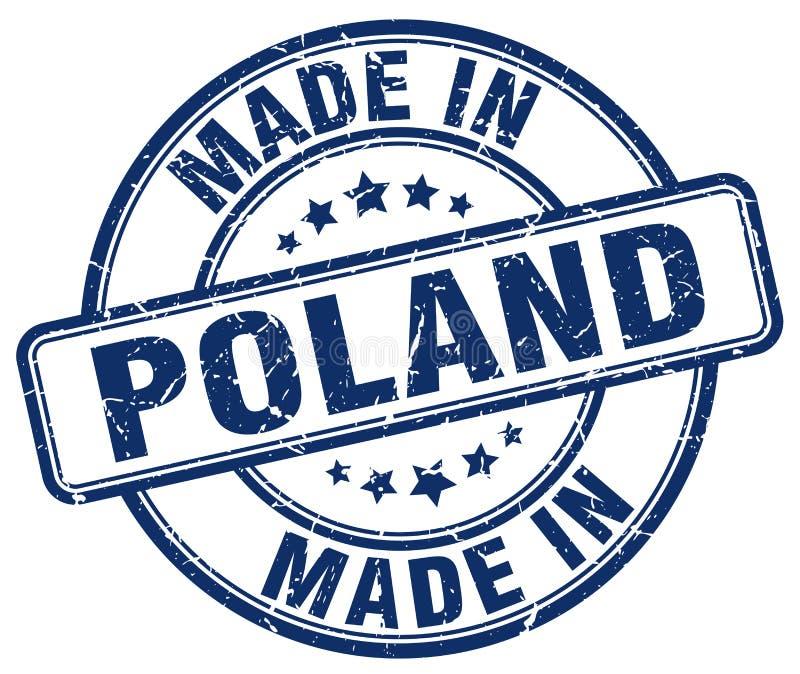 做在波兰难看的东西圆的邮票 向量例证