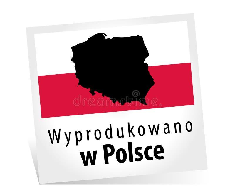 做在波兰- Wyprodukowano w Polsce 库存例证