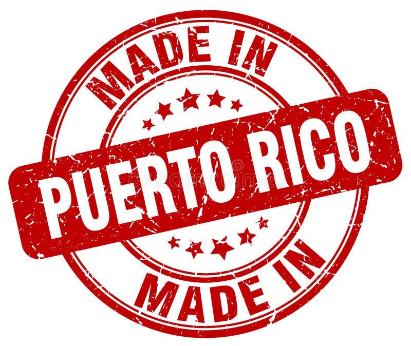 做在波多黎各邮票 库存例证