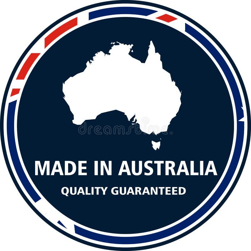 做在澳大利亚质量邮票 也corel凹道例证向量 向量例证