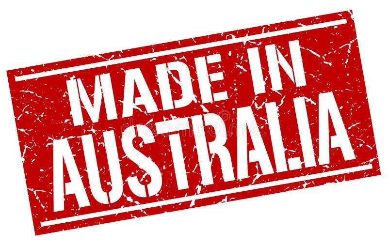 做在澳大利亚邮票 库存例证