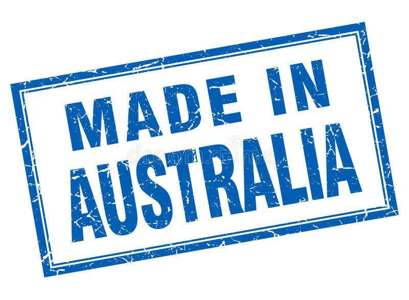 做在澳大利亚邮票 向量例证