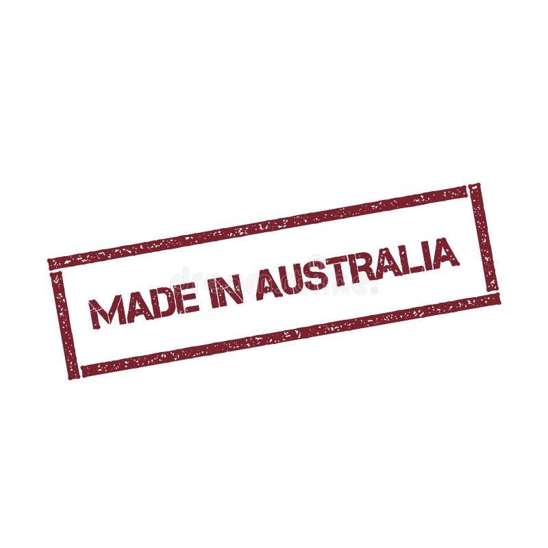 做在澳大利亚长方形邮票 皇族释放例证