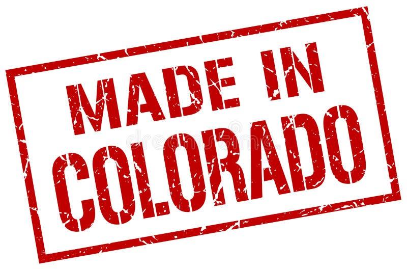 做在科罗拉多邮票 皇族释放例证