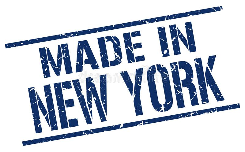 做在纽约邮票 库存例证