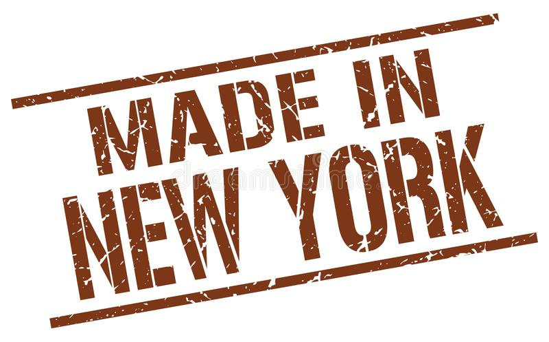 做在纽约邮票 向量例证