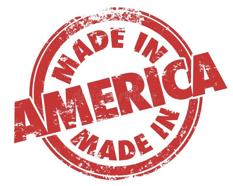 做在美国圆的红色难看的东西邮票美国工业制造品 皇族释放例证