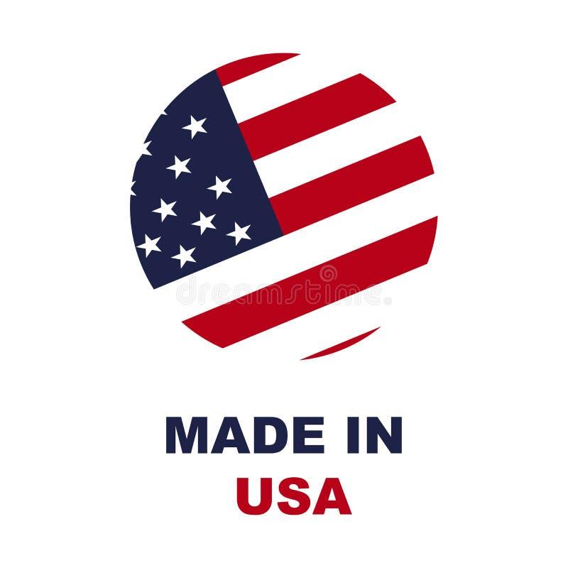 做在美国标志在白色背景 向量例证