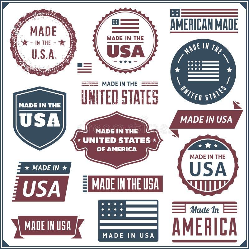 做在美国标签 皇族释放例证