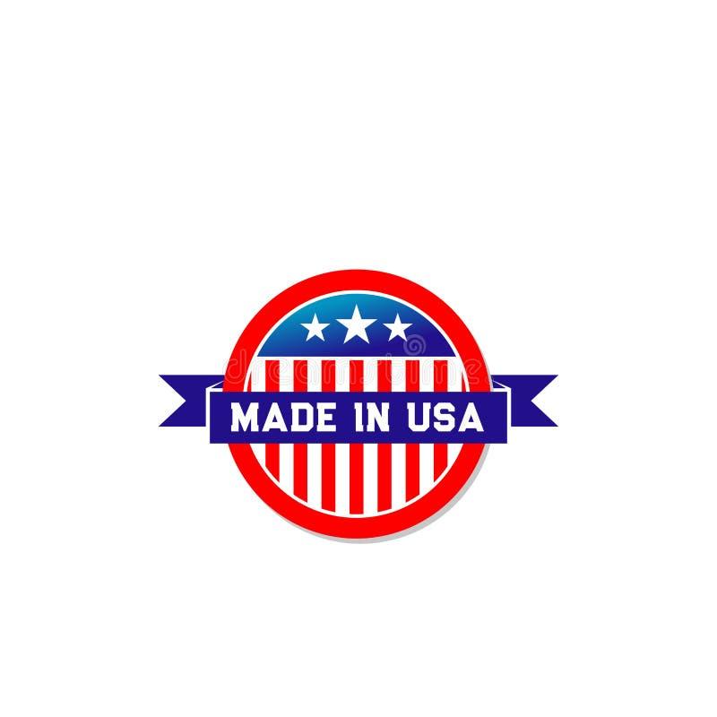 做在美国美国国旗丝带传染媒介象 向量例证