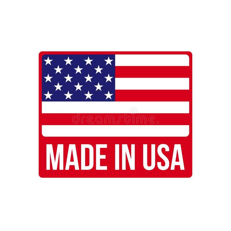 做在美国象在传染媒介美国国旗 库存例证