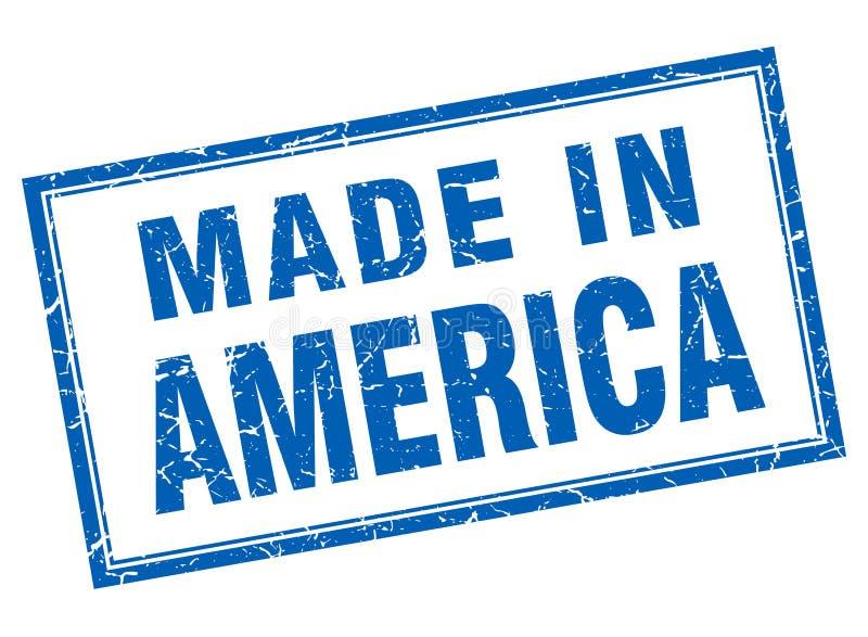 做在美国邮票 库存例证