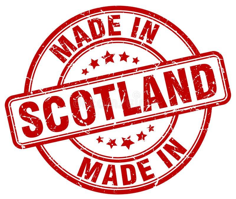 做在苏格兰红色难看的东西邮票 库存例证