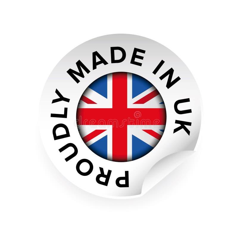 做在英国标签传染媒介 向量例证